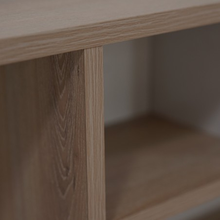 Neo Bed 150x190 cm Oak and White MDF