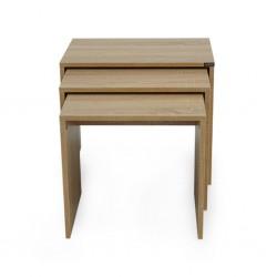 Auburn Set of 3 Side Tables Sonoma Color
