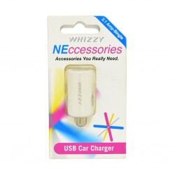 Whizzy USBC1W 2.1Amp USB Car Charger White
