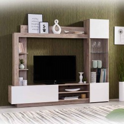 Forma Toto High TV Cabinet Oak & White PB