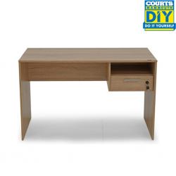 Concept Office Desk Sonoma/High Gloss White Color