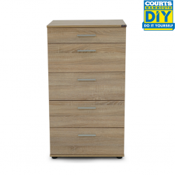 Sanford Chest of 5 Drawers Sonoma