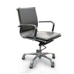 Nova Mid Back Office Chair Black PU