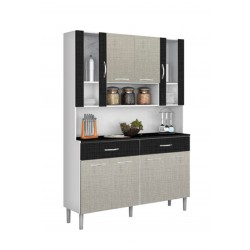 Golden Kitchen Unit Black/White