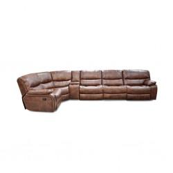 Veronese Sofa Corner Brown Leather/PVC