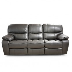 Lugano Sofa 3+2+1 Grey Leather/PVC