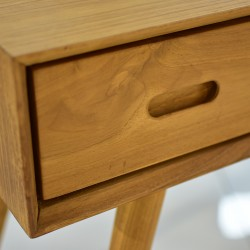 Ingrid Console Table W/3 Drawers In Teak