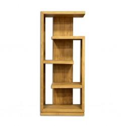 Alberta Bookcase Cabinet 4 Shelves In Teak