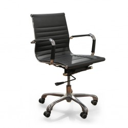Sora Mid Back Office Chair Black PU