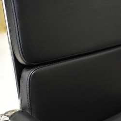 Alfi Mid Back Visitor Chair Black PU