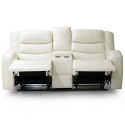 Veneto Sofa 3+2 Leather Gel White