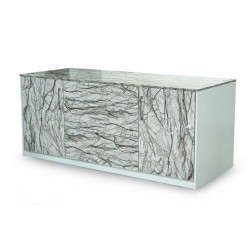 Built In Kitchen Bar Unit L2100 Acrylic Marble