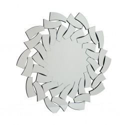 Wall Mirror In MDF Silver Finish L100xW100 cm