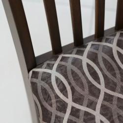 Boris Chair Choco Fabric Seat