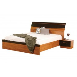 Juliana Bed 150x190 cm Teak MDF