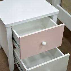 Puzzle Bedroom Set 120x200cm White & Pink MDF