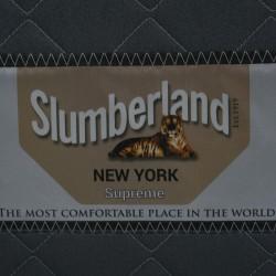 Slumberland New York Supreme Single 90x190 cm Silver Border and white Aloe