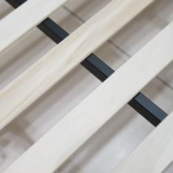 Libra Bed 150x190 cm Metal and Rubberwood