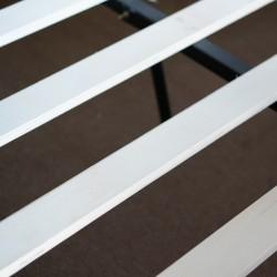 Rimes Bed 150x190 Black PVC Headboard