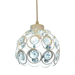 Empress- Crystal Pendant Lamp Single /836 White
