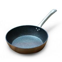 "Ibili 495328-IB 28cm Natura Copper Deep Frypan ""O"""