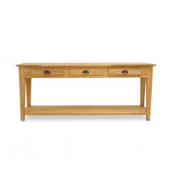 Parco Console Table W/3 Drawers In Teak