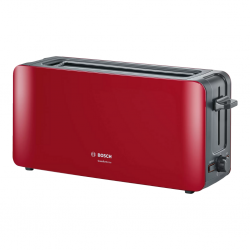 "Bosch TAT6A004 Long Slot 2Slice 1090W Red Toaster ""O"""