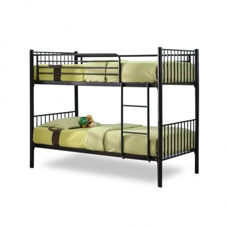 Lily Bunk Bed 90x190 cm Black Metal
