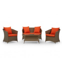 Fresno Sofa 2+1+1+Coffee Table PE Rattan