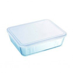 """Pyrex COOK AND FREEZE 1.5L Rectangle Dish With Plastic Lid 22x17 """"O"""""""