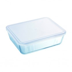 """Pyrex COOK AND FREEZE 4L Rectangle Dish With Plastic Lid 27x23 """"O"""""""