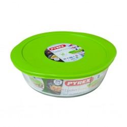 """Pyrex COOK AND STORE 2.3L - 26cm Round Dish With Plastic Lid """"O"""""""