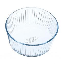 "Pyrex Glass 21cm Souffle Dish ""O"""