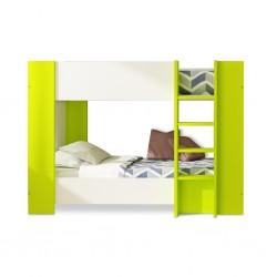 Glitter Bunk Bed 90x190cm White & Green P.Board