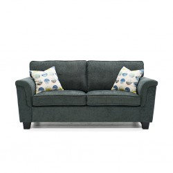 Alicia 3 Seater Sorrento Pewter Col Fabric (AFG)