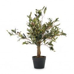 Olive Artificial Tree 65cm in Plastic Pot 6''