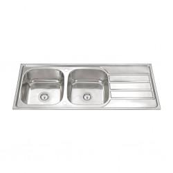 Dura Sink 12050N Double Drainer 1200x500x220