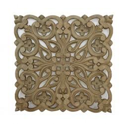Sculpt Flower Pattern Wall Decor 60x60cm MDF