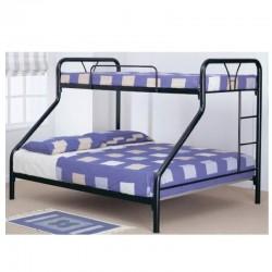 Yvonne Bunk Bed 137x190 cm Black Metal