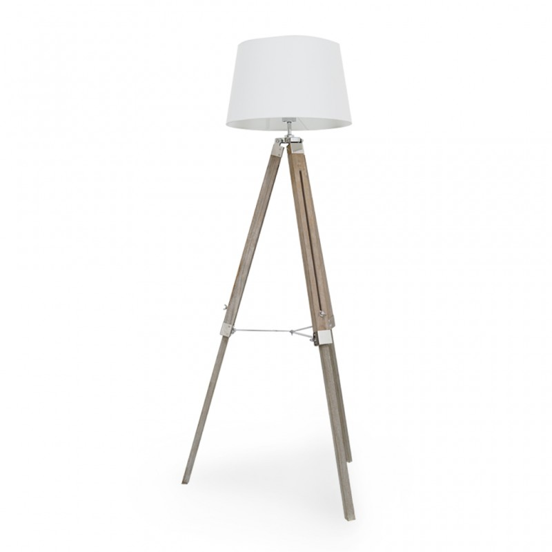 Floor Lamp Wooden Old Chinese Ash Finish