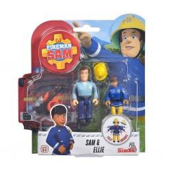 Simba - Fireman Sam & Ellie Figurines Double Pack Ii, 4 Asst. 109251026038