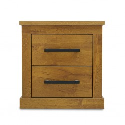 Los Angeles Nightstand Rovere Soft P.Board 2 Drws