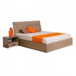 Magnum Bed 150x190 cm Oak MDF