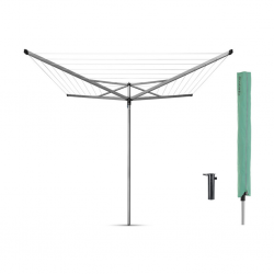 "Brabantia 323201 40m M.Grey Essential Rotary Dryer + Ground Tube + Accessories ""O"""