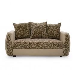 Larissa 3 Seater Brown Fabric