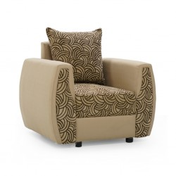 Larissa Accent Chair Brown Fabric