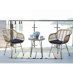Ixia Danilo Table and 2 Chairs with Cushions