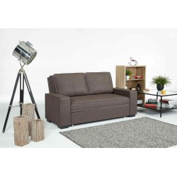 Ixia Comfort Sofa Bed Brown Fabrics