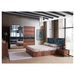 Ruby Bedroom Set 160x200 cm Black Marbles Color
