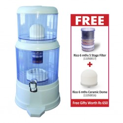 Rico WP200 Water Filter + Free Rico 6 mths 5 Stage Filter for WP200 Water Filter & 6 mths Ceramic Dome for WP200 Water Filter